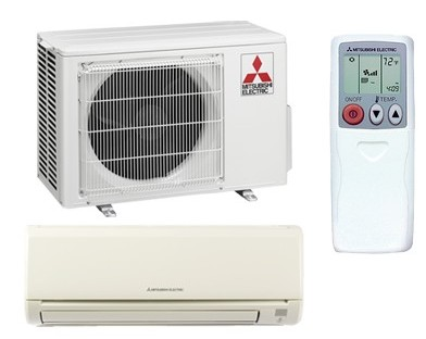 Single Zone Mitsubishi Ductless Mini-Split Heat Pump