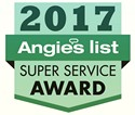 See Press Release - Hannabery earns Angie's List 2017 Super Service Award