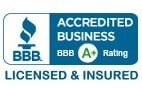 BBB Accredited Business with A-plus rating, Allentown, Quakertown, Clarks Summit