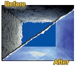 Ductwork before-after duct cleaning