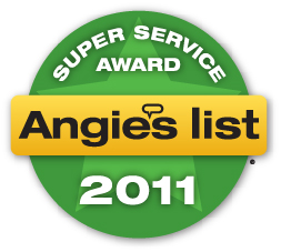 2011 Angie's List Super Service Award winner