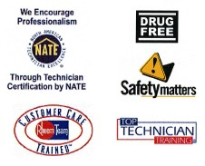 NATE-certified, Safety Trained, Drug-free, Top technician
