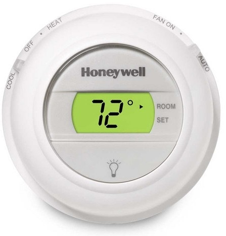 Honeywell T8775 Digital Round Thermostat - Heat, Cool Model