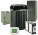Trane Heat Pump with matching Air Handler, Indoor Coil, and accessories