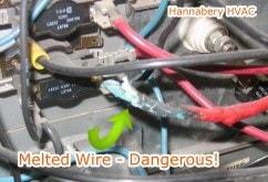 melted furnace wire