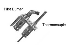 My Pilot Light Goes Out: Gas Water Heater Pilot Burner And Thermocouple  Drawing