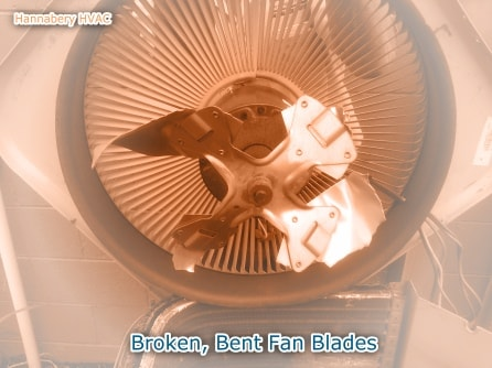 broken and bent outdoor fan blades