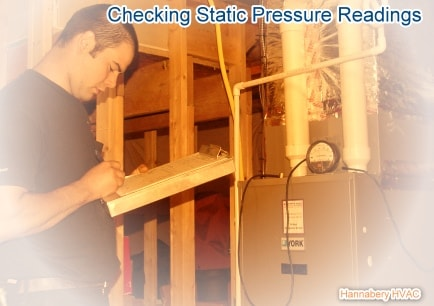 checking static pressure