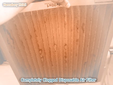 completely clogged air filter