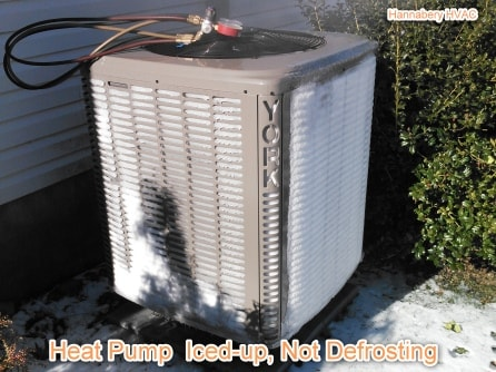heat pump iced up