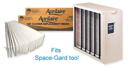 Space-Gard, Aprilaire High Efficiency Air Cleaner with media replacement