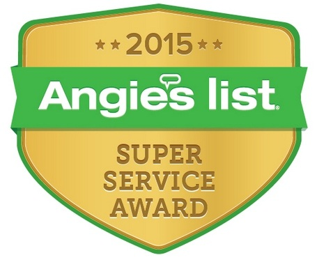 2015, 2014, 2012, 2011, 2007 Angie's List Super Service Award winner