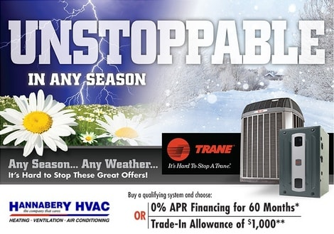 Hannabery hvac coupons special offers utility rebates incentives trane 2018 spring promo fandeluxe Choice Image