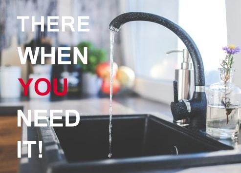 kitchen sink hot water